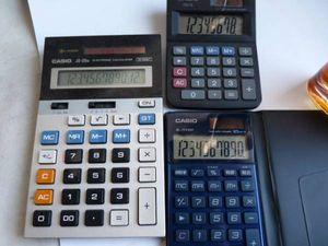 カシオ電卓 JS-20M/MS-6/SL-V1000■3個