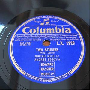 美盤 英COLUMBIA セゴビア ギター tarantella /two studies