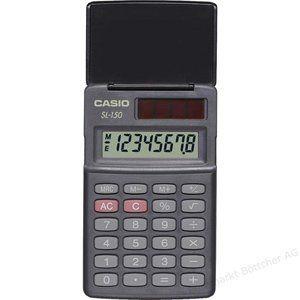 CASIO ミニ電卓 SL-150BK 50個セット