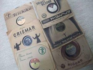 昭和レトロ 戦前~昭和20年代 SP盤レコード 6枚 (洋楽、流行歌)