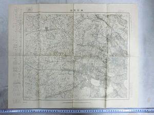 A01118 大正5年東京西部の地図 新宿中野練馬等
