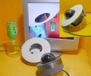 パナカメラWV-CF36A+金具WV-Q135付、作動中古②