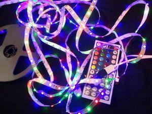 クリスマス LED テープライト 5m RGB リボン リモコン付 ライト