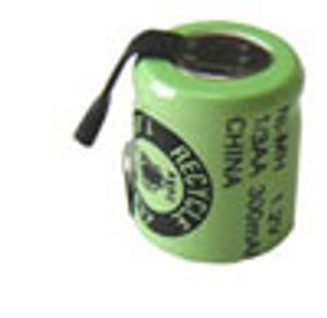 ◆[新品]ニッケル水素タブ付き1/3AAセルφ14mmx16.5mm [280mAh]