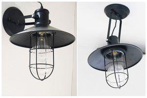 ○インダストリアル男前壁掛け天井ランプ工業照明アンティーク01