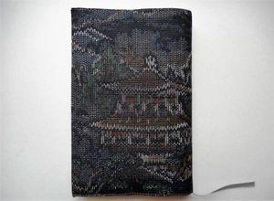 ◆手作り◆ 和柄のブックカバー(文庫本サイズ)正絹☆ 金閣寺