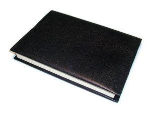 【送料無料】本革*ブックカバー*文庫本用*シンプル*ブラック