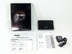100円~SHARP Brain PW-GC590-B 液晶電子辞書 マッドブラック