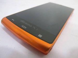 ドコモ AQUOS PHONE SH-07E オレンジ 中古 反応少有
