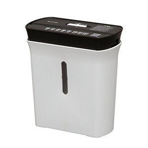 アイリスオーヤマ デザインシュレッダー P5GC 白黒 インテリア
