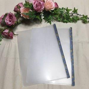 90*ものみの塔など雑誌&ブロシュアークリアハードカバー♪ブルー花柄2枚組*ハンドメ
