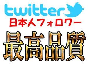 Twitter★日本人フォロワー2万+増加★ツイッター有名人実績!