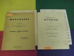 ヴァイオリン輸入楽譜2冊/サンサーンス ハバネラ/ドヴォルザーク