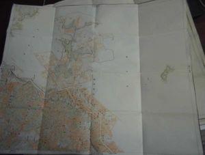 地図3角ー3-100/古地図/横須賀/1万分の1