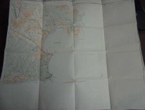 地図3角ー3-70/古地図/久里浜/1万分の1