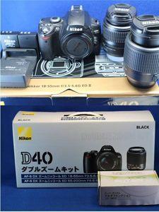 ニコン Nikon D40 ダブルズームキット 1式 清掃済み