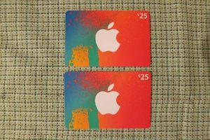 iTunesカード US*北米版 $50 ($25×2枚)
