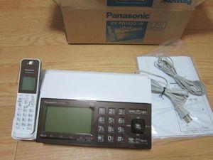 ◆パナソニック デジタルコードレスFAX ピアノホワイト KX-PD102D-W◆ジャンク扱い