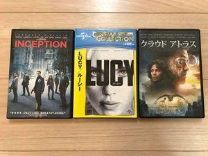 DVDまとめて3枚  ルーシー(未開封)& クラウドアトラス & INCEPTION