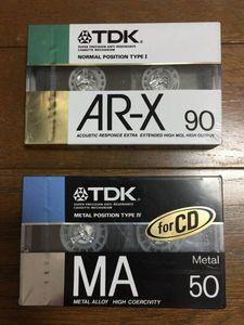 TDK カセットテープ MA50 AR-X90 未開封新品長期保管品 ジャンク 昭和レトロ