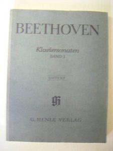 ベートーヴェン Klaviersonaten BAHDⅠ G.HENLE VERLAG 洋書