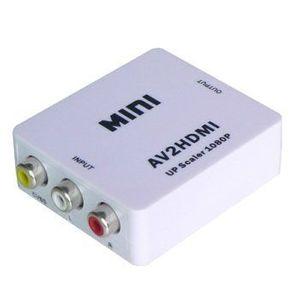 RCA AVケーブル HDMI 変換アダプター コンポジット to HDMI アップスケールコンバーター