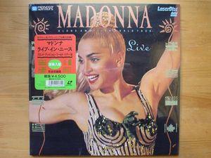 ●LD 未開封新品 マドンナ ライブ・イン・ニース 全18曲 112分 ●3点落札ゆうパック送料