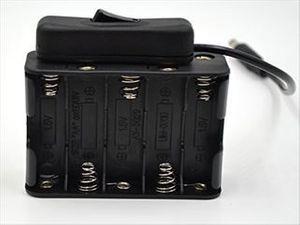 DC12V DCプラグオス仕様 スイッチ付き電池ボックス 電池式バッテリーケース スナップ式