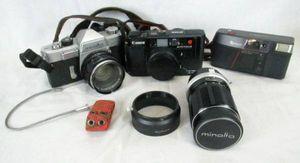 ☆ジャンク カメラ レンズ セット minolta canon FUJI WD1089