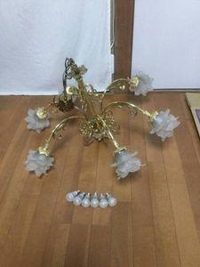 シャンデリア 6灯 LED電球 天井照明器具 パナソニック アンティーク