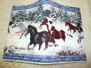 *創夢*雪原を駆ける馬*ブックカバーA5用*ハンドメイド*お休みセール*在庫処分*