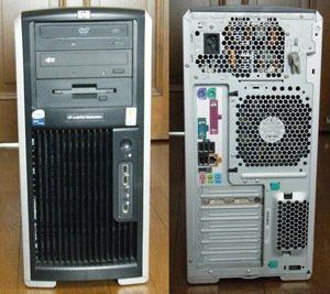 ☆ HP workstation xw8400 QuadXeon X5355x2基/12GB/約280GB/FX3700/Win10 中古 ☆