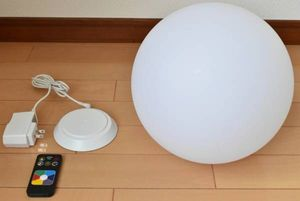 最落無し 美品 バッテリ内蔵タイプ 防水コードレス 調光LEDインテリアライト 美品