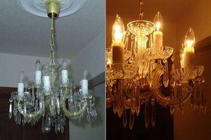 ◆豪華でエレガントな9灯クリスタルガラス・シャンデリア◆煌びやかで優雅な光のシンフ