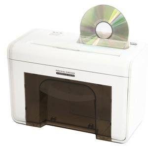 ナカバヤシ シュレッダー 電動 クロスカット CD・DVD ホワイト