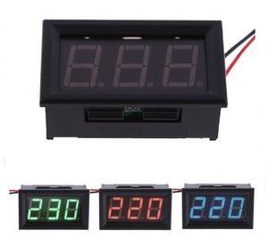 高品質 LED AC 30-500Vデジタル電圧計交流電圧計表示 赤青※緑