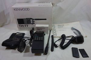 【ジャンク扱い】144/430MHz KENWOOD TH-77 箱・ CTCSS・付属品付