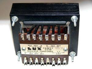 ◆LUX変調トランス 7AM21(カソードNFコイル付)通信用(中古サビあり)