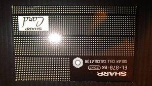 ★昭和 レトロ 未使用 SHAPP シャープ カード型 電卓 EL-878-BK