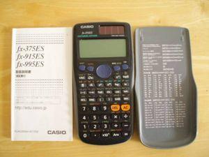 美品●カシオ関数電卓 fx-375ES カバー・取説付