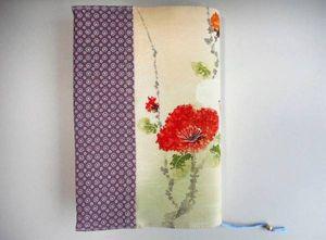 ◆手作り◆和柄のブックカバー(単行本・ハードカバー☆花のかほり