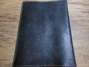 牛革 A5サイズ ブック・ノートカバー  ブラック