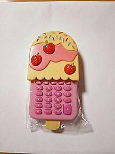電卓 可愛いアイス型 ピンク 計算機 いちご 未開封品