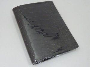新品 AQDO アクュード クロコ型押 ブックカバー 文庫 (BK)
