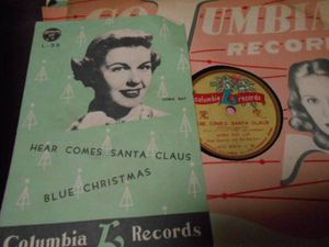【SP盤】「ドリス・デイ/サンタ・クロースがやって来る」コロムビア