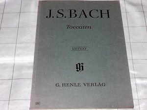 輸入ピアノ楽譜 バッハ トッカータ 全7曲 BWV910~916  ヘンレ出版社 93p