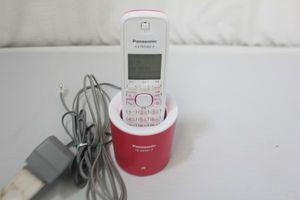◆コードレス電話機【Panasonic製品/型番:KX-FKD402】ホワイト&ピンク
