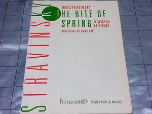 *輸入楽譜 ストラヴィンスキー 春の祭典 ピアノ連弾用 1947年版 83p