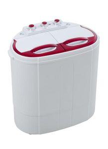1円~ 二層式洗濯機 極洗Light VS-H011 レッド 洗濯量2.8kg 小型洗濯機
