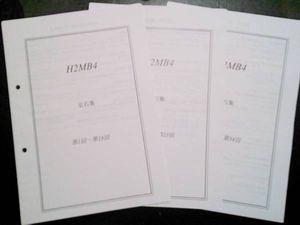 鉄緑会 高2 数学実戦講座Ⅰ/Ⅱ B4クラスオリジナル 定石集 秀逸